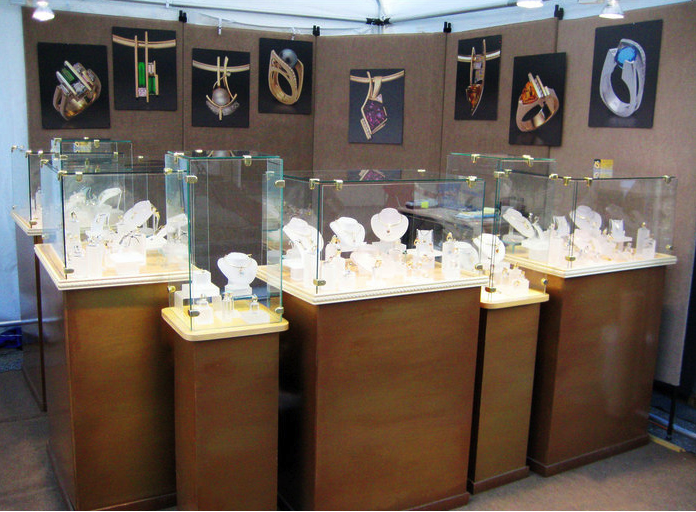 Jewelry Exhibition Booth Design : Beautiful jewelry displays art attack