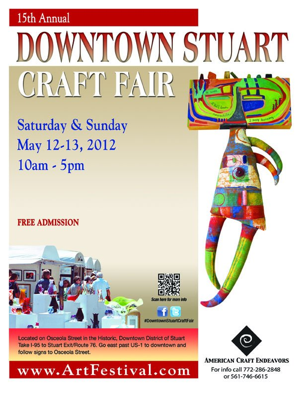 Craft festival this weekend downtown stuart art attack for Howard county craft fair